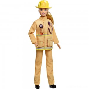 Barbie Careers 60th Anniversary Firefighter Doll - Sale