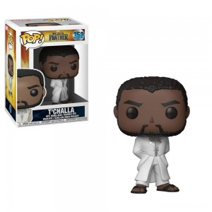Funko POP! Marvel: Black Panther - T'Challa in White Robe - Sale