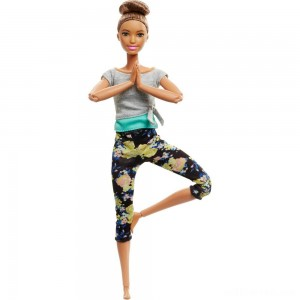 Barbie Made To Move Yoga Doll - Floral Blue - Sale