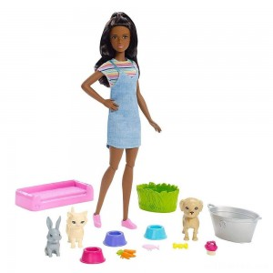 Barbie Play 'n' Wash Pets Nikki Doll and Playset - Sale