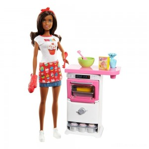 Barbie Bakery Chef Nikki Doll and Playset - Sale