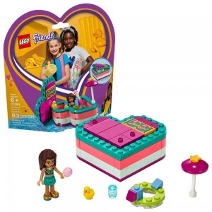 LEGO Friends Andrea's Summer Heart Box 41384 Heart Box Building Set with Andrea Mini Doll Playset 83pc - Sale