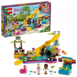 LEGO Friends Andrea's Pool Party 41374 Toy Pool Building Set with Mini Dolls for Pretend Play - Sale