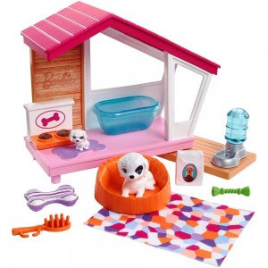 Barbie Dog House Playset, doll accessories - Sale